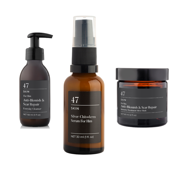 For Him Anti-Blemish & Scar Repair 3 Step Bundle
