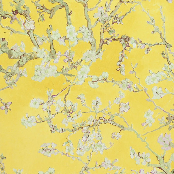 Almond Blossoms - Yellow Wallpaper