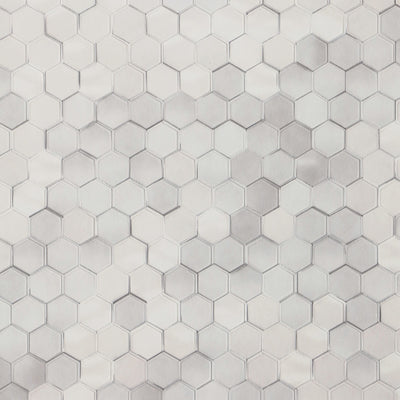 Hexagon - White Wallpaper