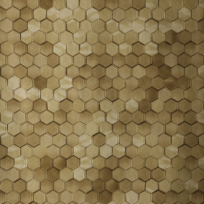 Hexagon - Ochre Wallpaper