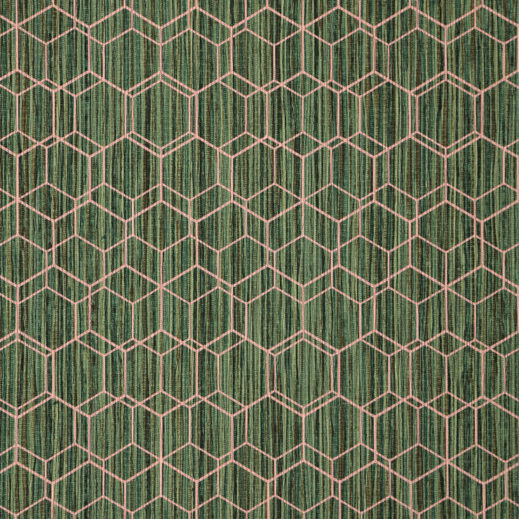 Wire Hex - Green Wallpaper