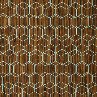 Wire Hex - Brown Wallpaper