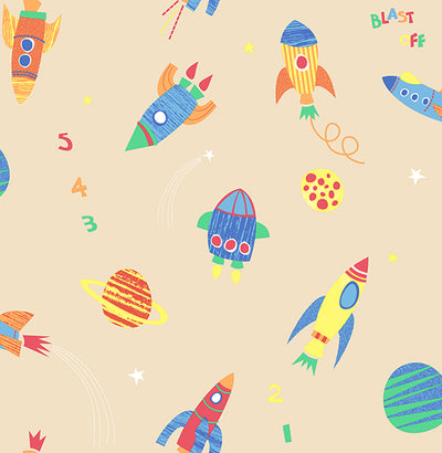 Blast Off Honey Outer Space Wallpaper