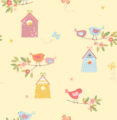 Birdhouses Honey Birds Wallpaper