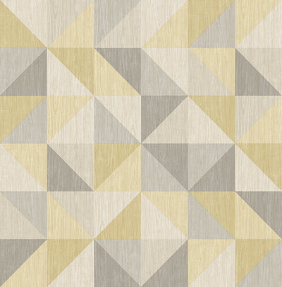 Puzzle Yellow Geometric Wallpaper Wallpaper