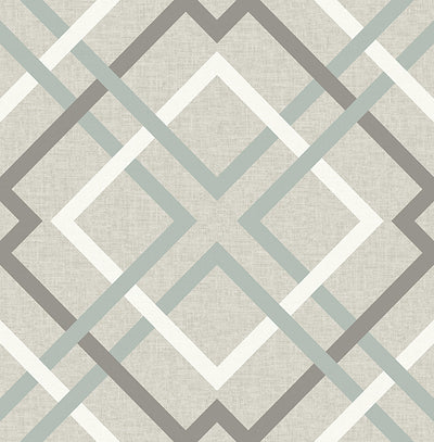 Saltire Taupe Plaid Wallpaper Wallpaper