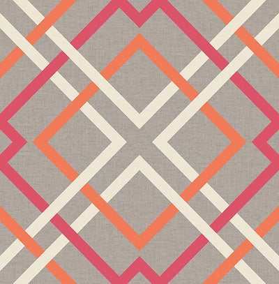 Saltire Pink Lattice Wallpaper Wallpaper