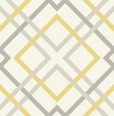 Saltire Yellow Lattice Wallpaper Wallpaper