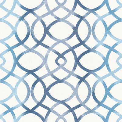 Twister Blue Trellis Wallpaper Wallpaper
