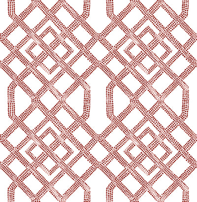 Traverse Red Trellis Wallpaper Wallpaper