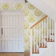 Alistair Yellow Medallion Wallpaper