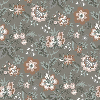 Athena Grey Floral Wallpaper Wallpaper