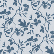 Birds In Trees - Blue Wallpaper
