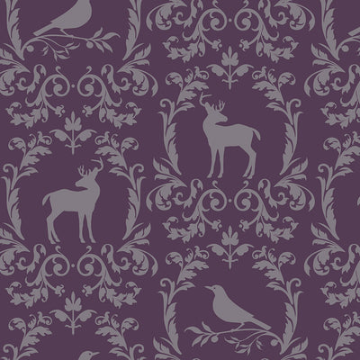 Fauna - Plum Wallpaper