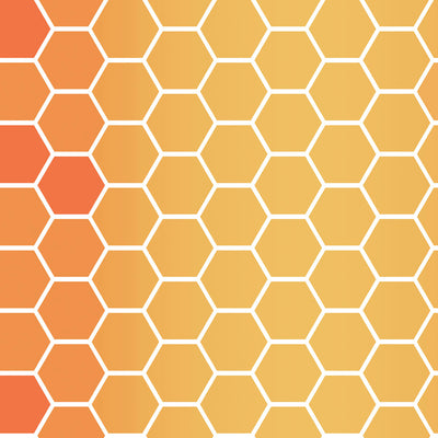 Honeycomb - Amber Wallpaper