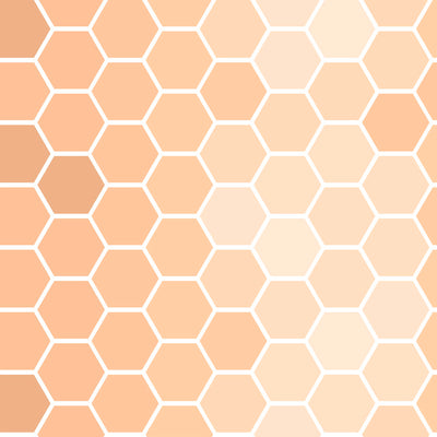 Honeycomb - Peach Wallpaper