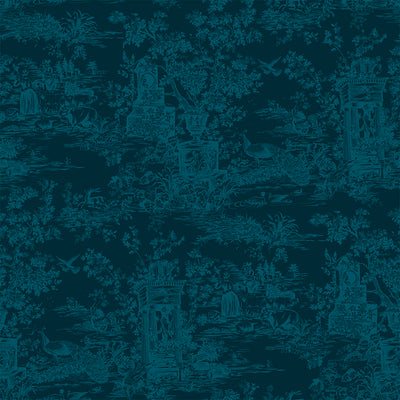Peacock Toile - Cambric Wallpaper