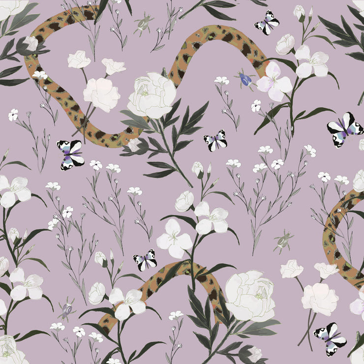 Flower and Serpent - Lustre Wallpaper
