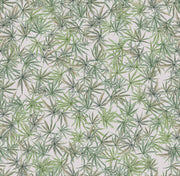 Mary Jane - Green on Featherweight Wallpaper