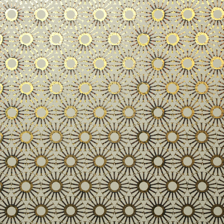 Michelle's Starburst - Celadon on Gold Wallpaper
