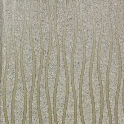 Champagne Wavy Wallcovering Wallpaper