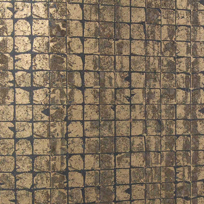 Bronze Tile Wallcovering Wallpaper
