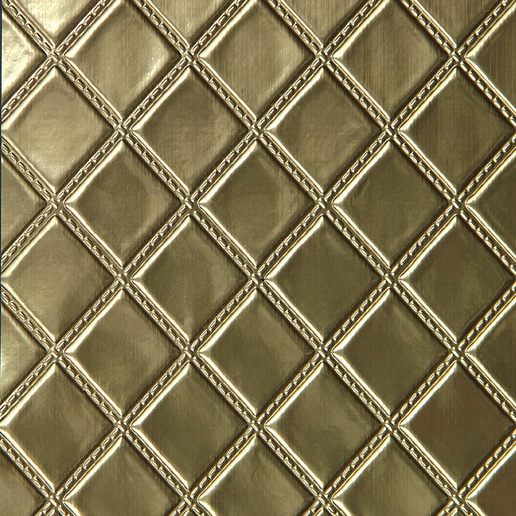 Quilted Vinyl - Gold Wallpaper