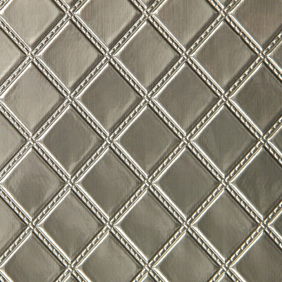 Quilted Vinyl - Silver Wallpaper