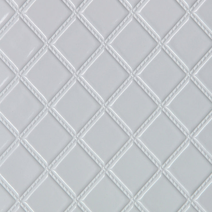 Quilted Vinyl - White Wallpaper