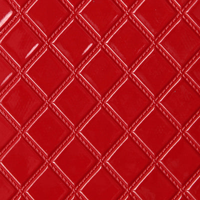 Quilted Vinyl - Red Wallpaper