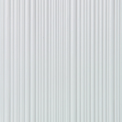 Corrugated - White Wallpaper