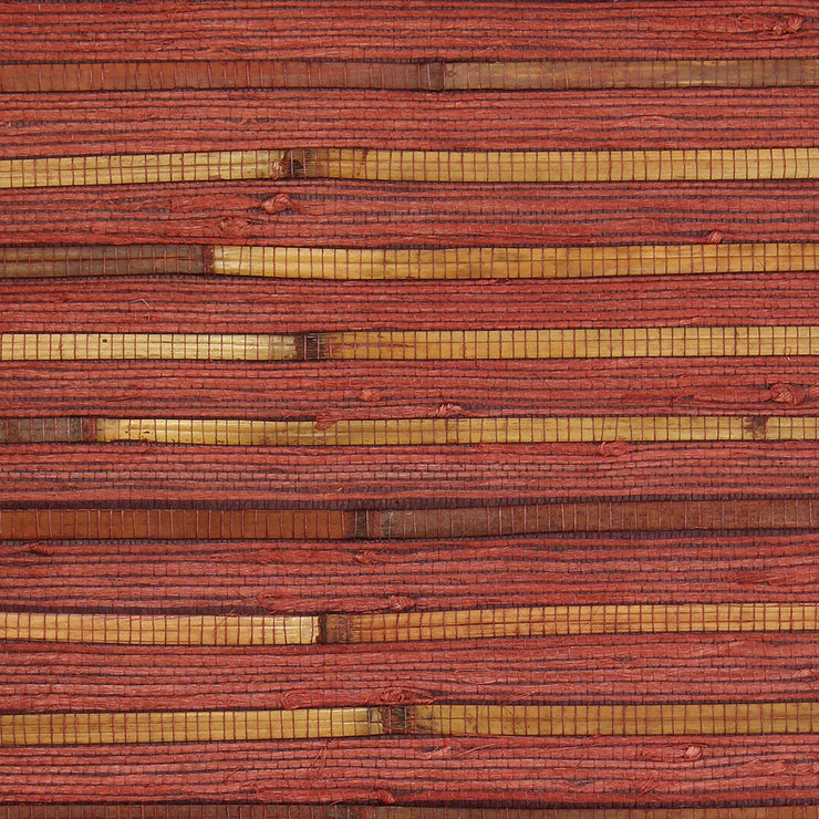 Exotic Naturals | Red Reed Grasscloth Wallpaper