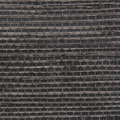 Charcoal Grasscloth Wallpaper