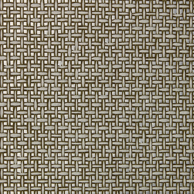 Brown and Silver Grasscloth Wallpaper