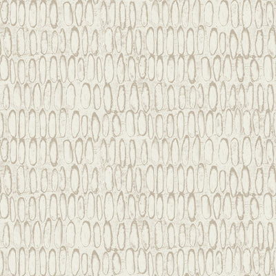 Carved - White Gold Wallpaper