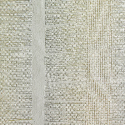 Off White Paper Jute Wallpaper