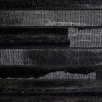 Black and White Raffia Gauze Net Wallpaper