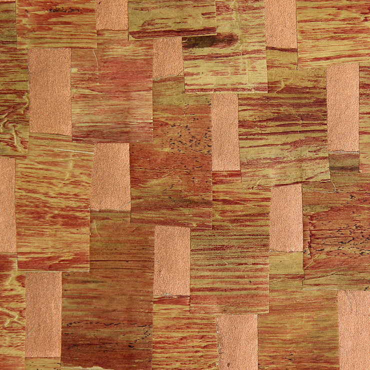 Red Bronze Water Hyacinth with Gap-Kan Paper Wallpaper