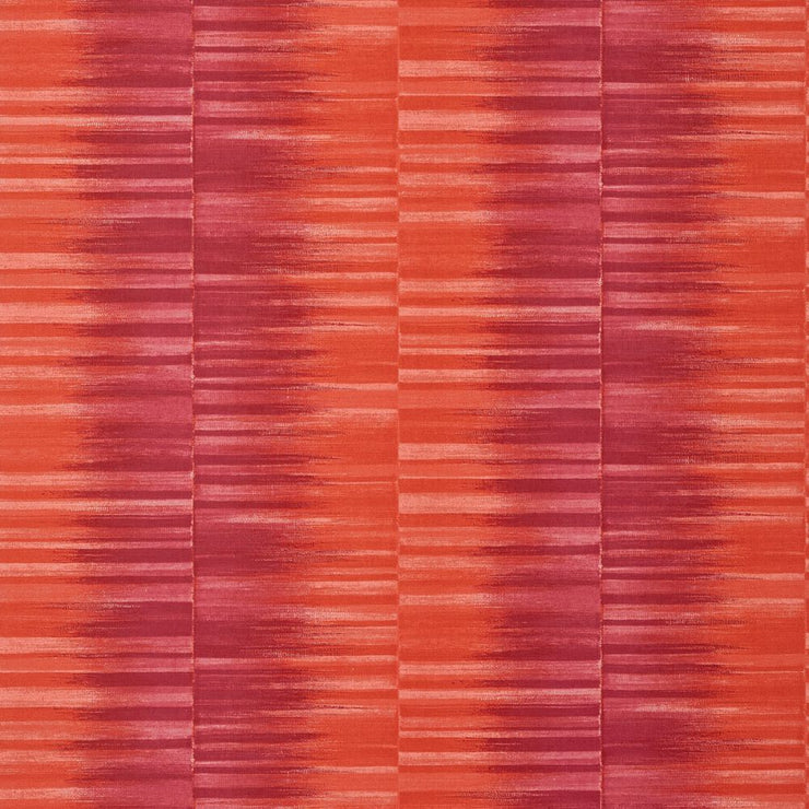 Mekong Stripe - Pink and Coral Wallpaper