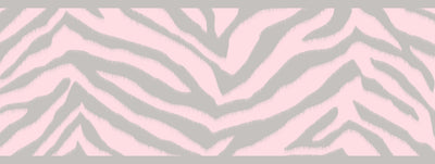 Mia Pink Faux Zebra Stripes Border Wallpaper