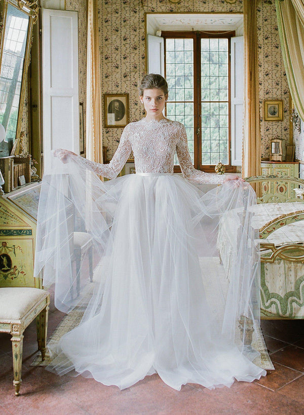 Tulle and lace gown
