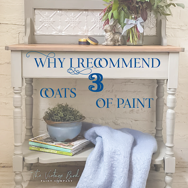 Vintage-Bird-Paint-Blog-Recommends-3-Coats-of-Paint