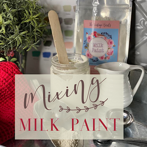 Mixing Vintage Bird Milk Paint