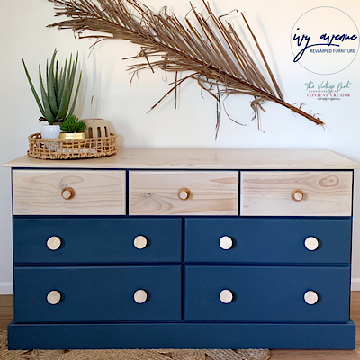 Stormy-Eve-coloured-Chest-of-Drawers-painted-in-Vintage-Bird-Furniture-Paint-by-Tarryn-at-Ivy-Avenue-Revamped-Furniture