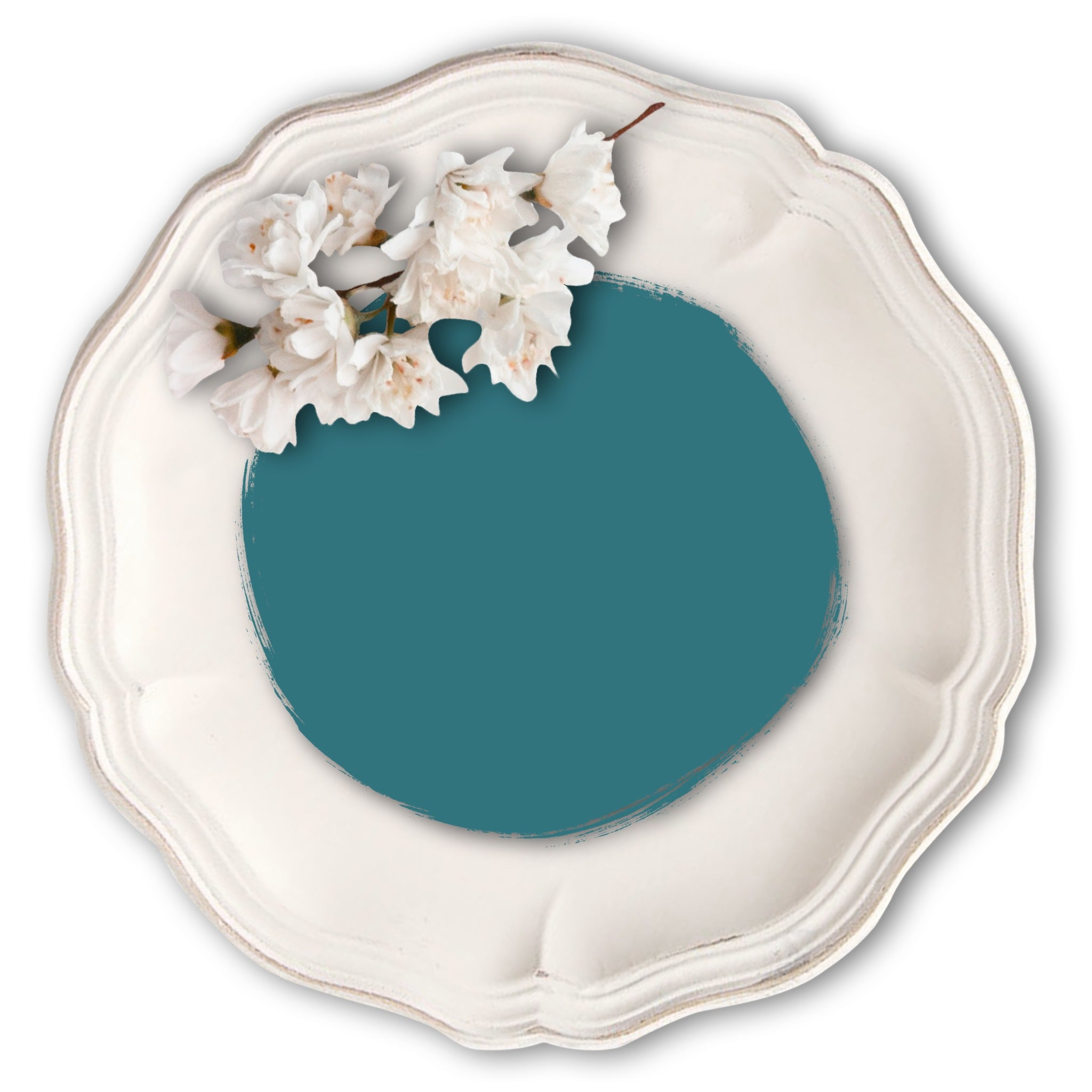 Ele's-Teal-Vintage-Bird-Furniture-Paint