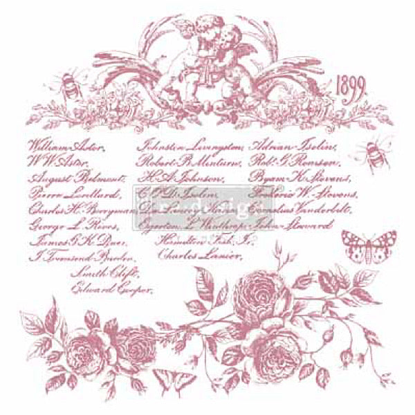 Re-Design Clearly Aligned Decor Stamp - Floral Script