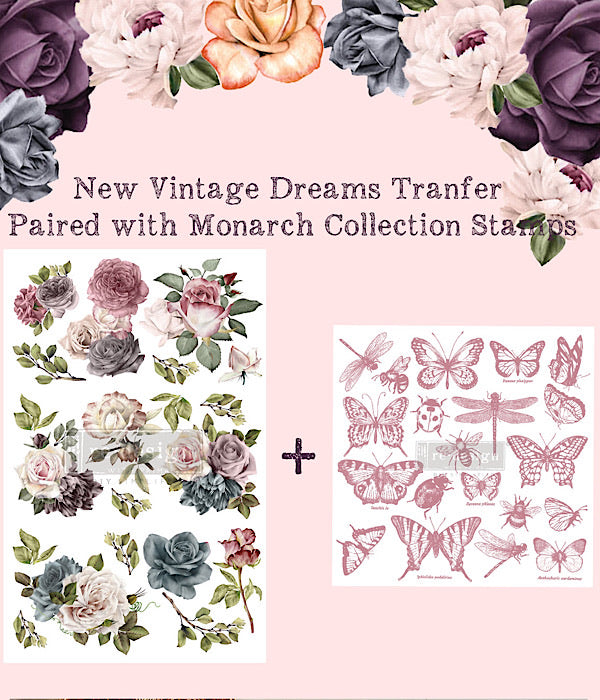 Re-Design Clearly Aligned Decor Stamps -  Monarch Collection