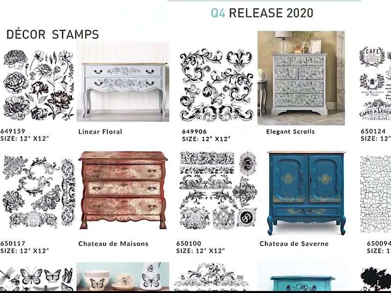 Re-Design Clearly Aligned Decor Stamps - Vintage Wallpaper