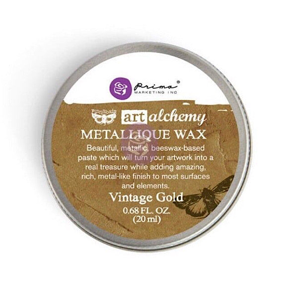 Prima Finnabair Metallique Wax - Vintage Gold