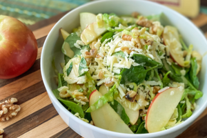 Fall Apple Walnut Smoked Salad with Maple Vinaigrette
